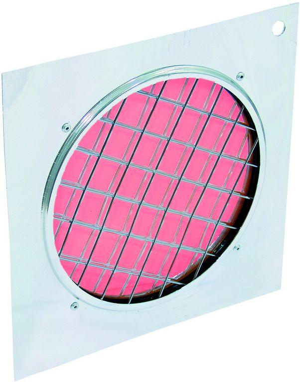 Dichrofiltr PAR-56 červený, stříbrný rámeček