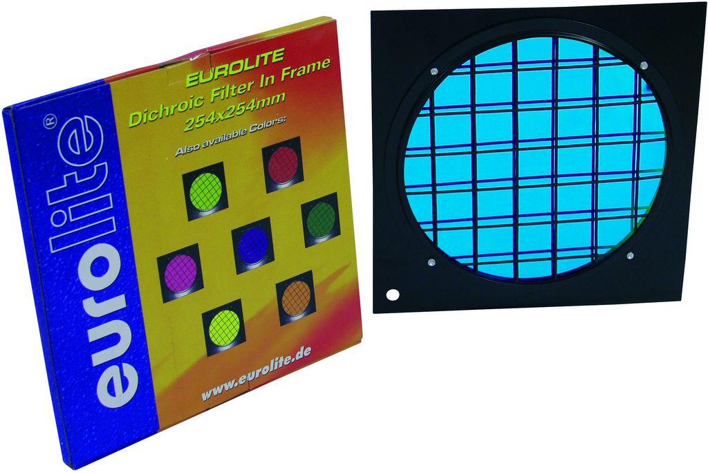 Dichrofiltr PAR 64 modrý, černý rámeček