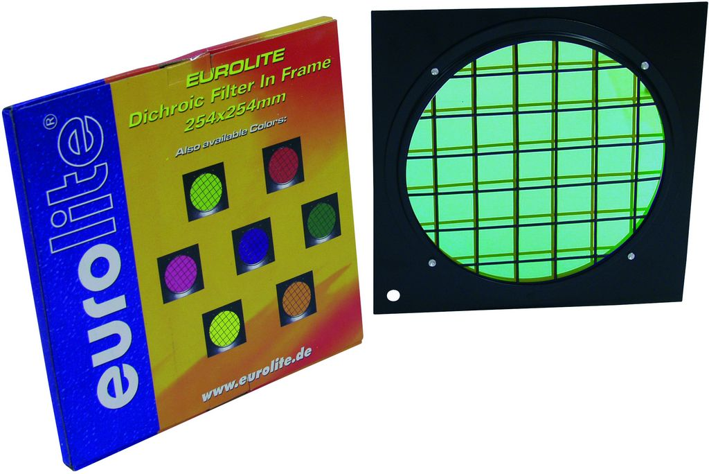 Dichrofiltr PAR 64 zelený, černý rámeček