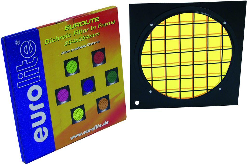 Dichrofiltr PAR 64 žlutý, černý rámeček