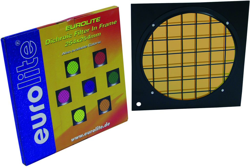 Dichrofiltr PAR 64 oranžový, černý rámeček