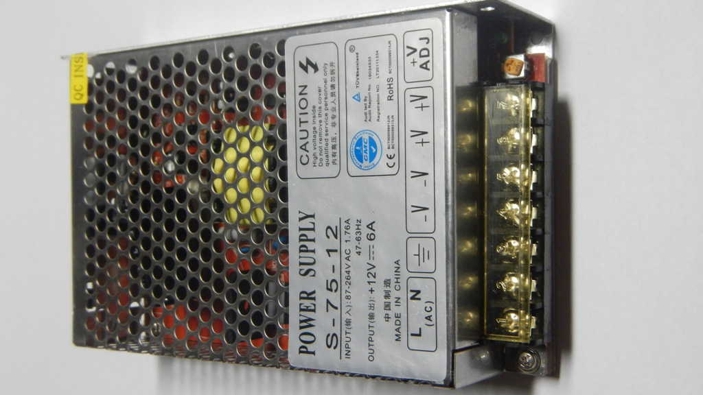 Fotografie eLite síťový zdroj pro LED osvětlení, 75W/12V