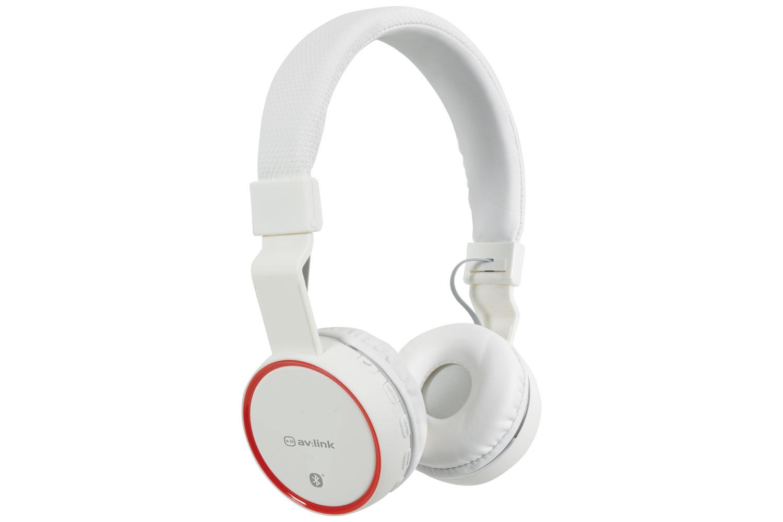 AV:link PBH-10 bezdrátová Bluetooth SD sluchátka, bílá