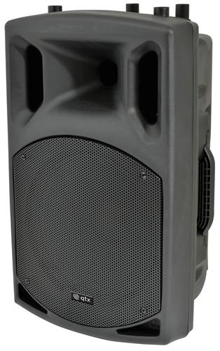 """QTX QX-15 mobilní 15"""" řečnický systém, SD/USB/2x VHF/FM/Bluetooth,"""