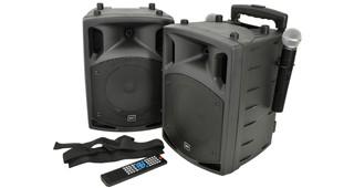 """QTX PAV-8, přenosný 8"""" zvukový systém CD-DVD-USB-Bluetooth-2xVHF 1"""