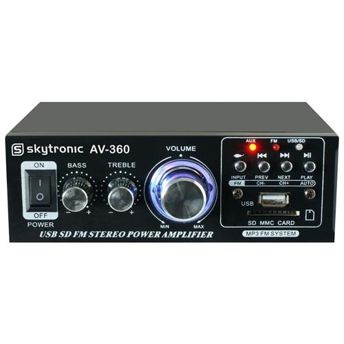 HiFi zesilovač 2x 40W FM / USB / SD