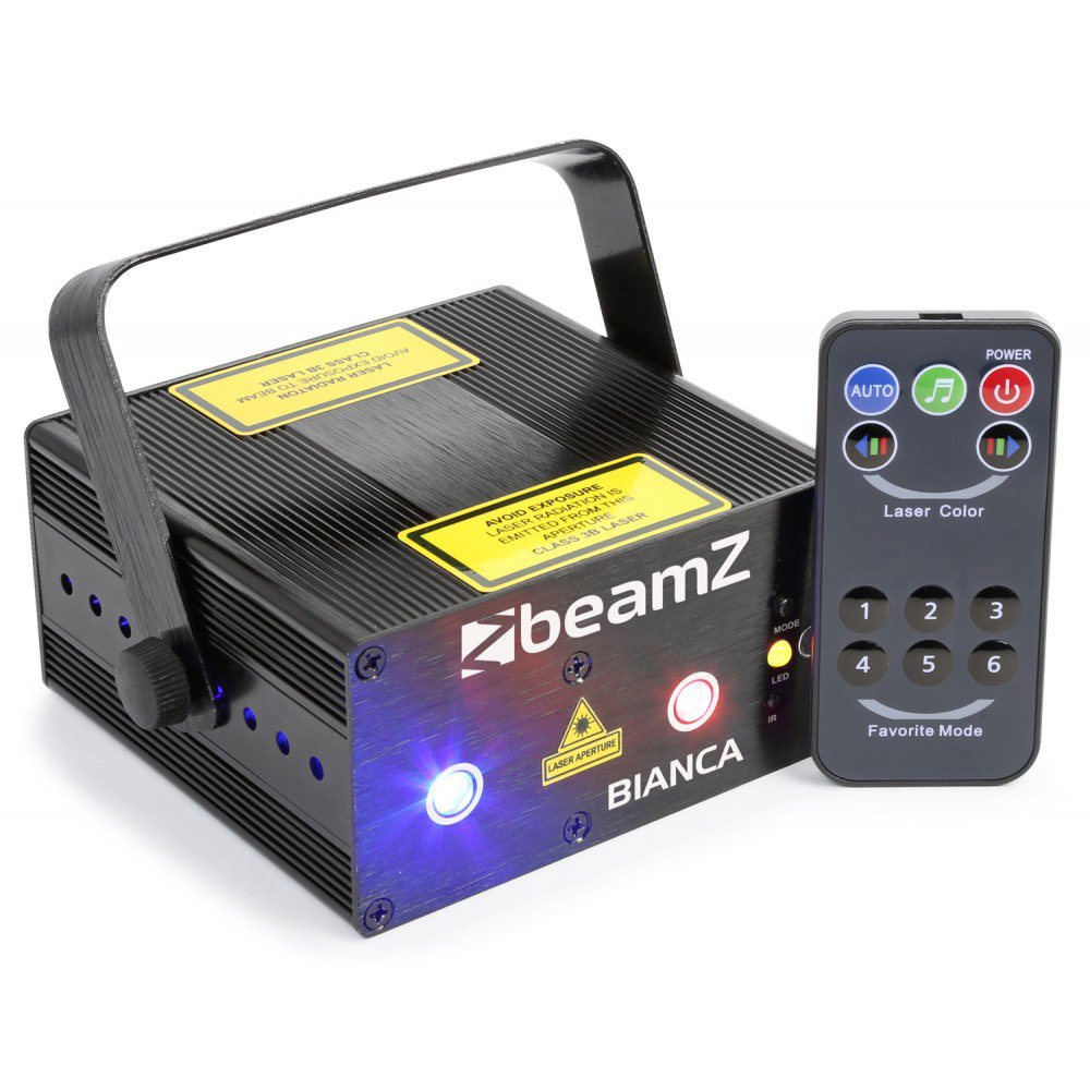 BeamZ Laser Bianca Double 330mW RGB Gobo, DO