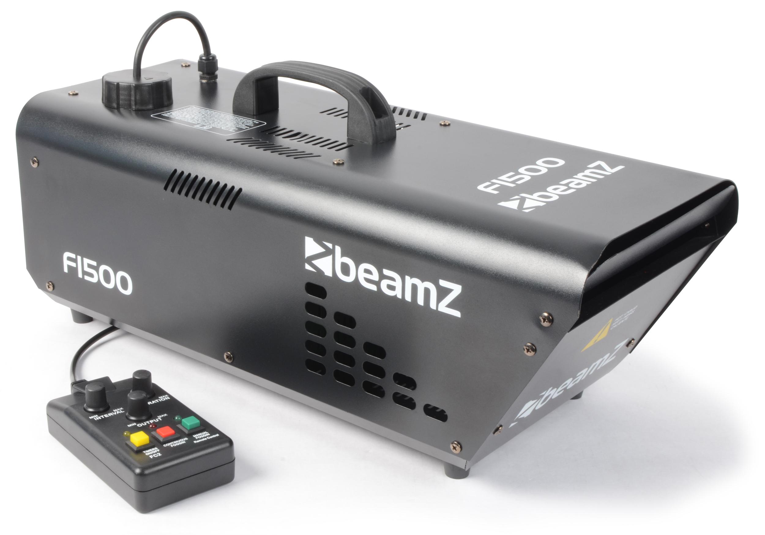 Fotografie BeamZ F-1500 Fazer DMX s dálkovým ovladačem, výrobník mlhy