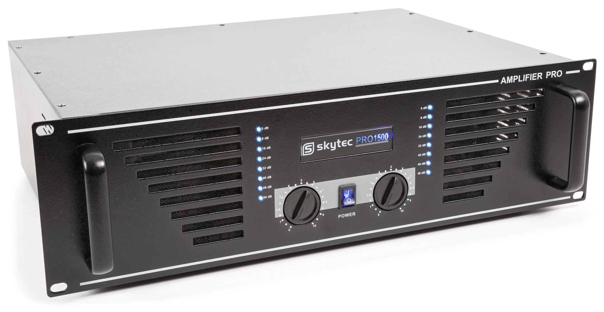 Skytec PA zesilovač PRO-1500B, 2x 750 W