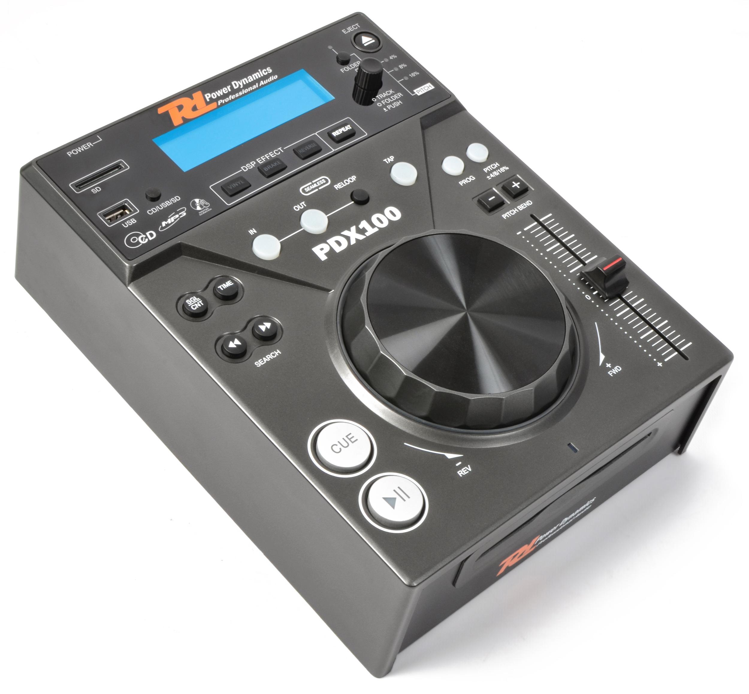 Power Dynamics PDX100, CD/SD/USB/MP3 přehrávač