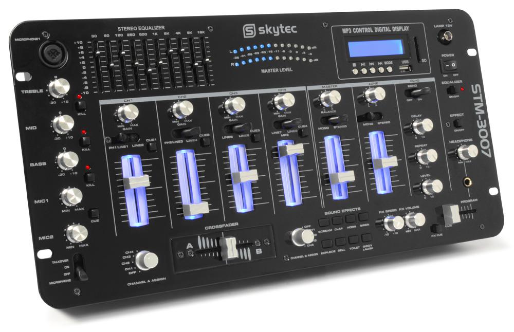 "Skytec STM-3007 6-kanálový mix pult s SD/USB/MP3/LED/Bluetooth 19"""