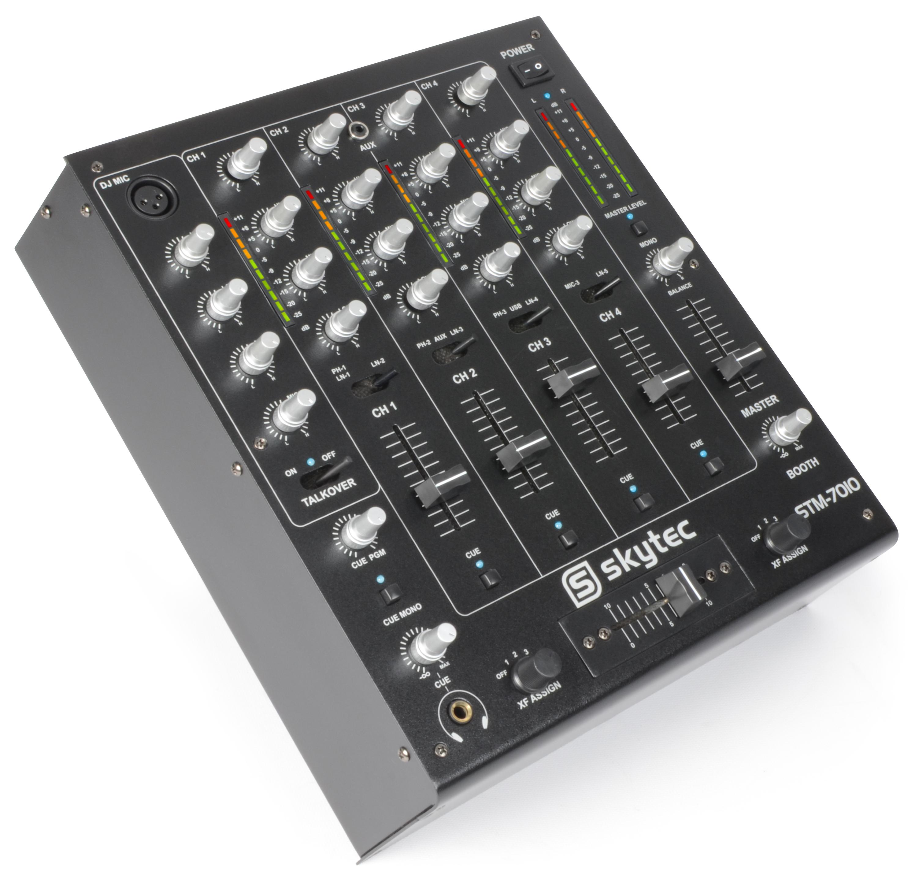Skytec STM-7010 4-kanálový mixpult