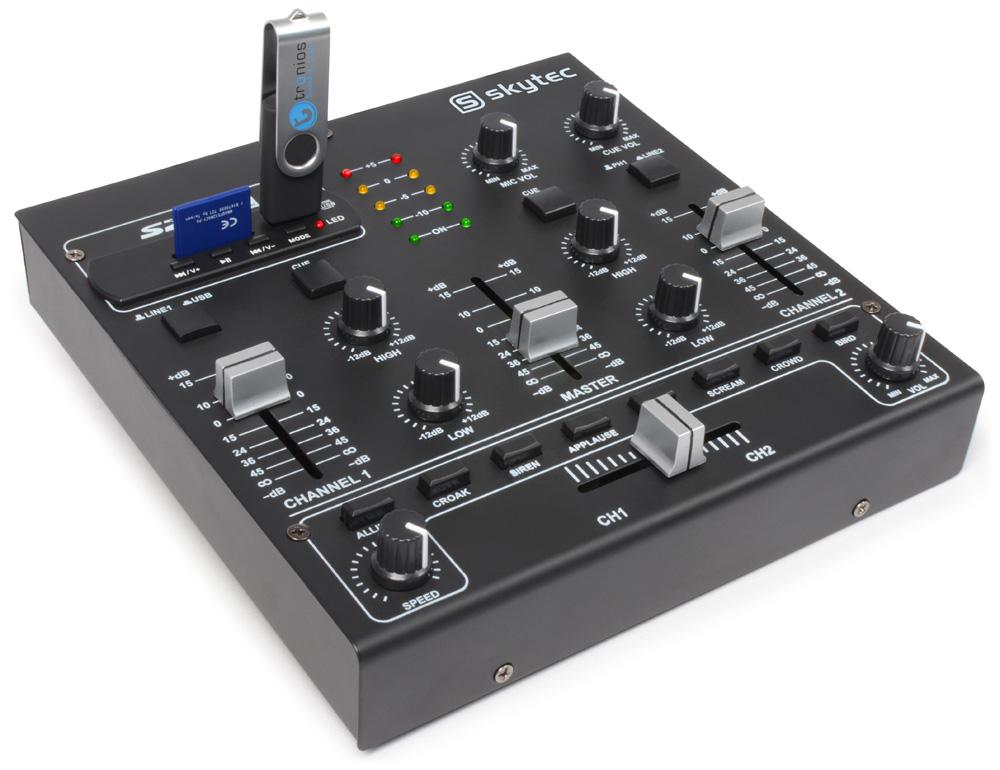 Skytec STM-2250, 2 kanálový mixpult s MP3