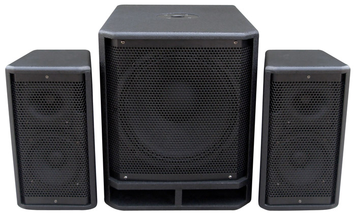 "Power Dynamics PD Combo 1200 12"" Subwoofer + 2x 6.5"" Satellite spe"